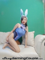 Blue Gaming Bunny